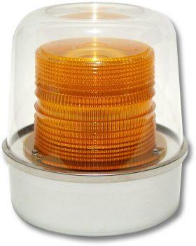 Emergency vehicles often use amber flashing lights.